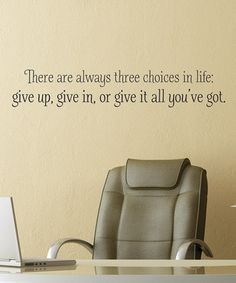 Black 'Three Choices in Life' Wall Quotes™ Decal