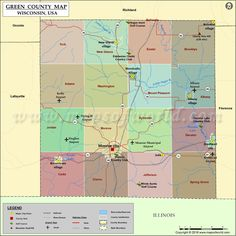 Green County Map for free download