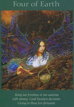 Angel Tarot Cards - Four of Earth
