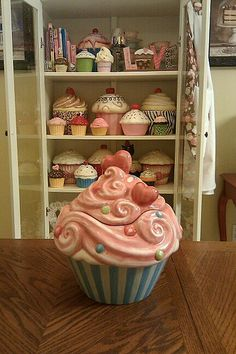Cupcake Cookie Jar Collection
