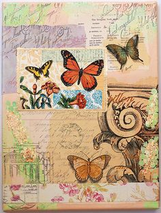 Butterfly Composition 2 - Collage