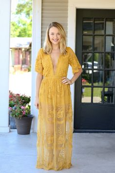 At Last Maxi Gown - Chloe Yellow – Hazel & Olive