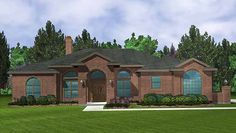 Mediterranean House Plan with 2104 Square Feet and 4 Bedrooms from Dream Home Source | House Plan Code DHSW18402