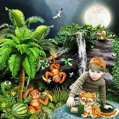 Voyage dans la Jungle by Kitty Scrap Photo Kitty Scrap