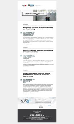 136 ADI! Jornadas (30/11/2017): Seguridad en la red, Industria 4.0 en pymes e Infoday Horizonte 2020_Acción por el Clima, Medio Ambiente.