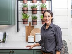Fixer Upper star Joanna Gaines knows how to add life to a home with clever container gardens. Get her tips on HGTV.com. >> http://www.hgtv.com/design-blog/shows/fixer-upper-container-garden-ideas-from-joanna-gaines?soc=pinterest