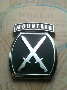10th Mountain Division Climb to Glory emblems