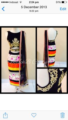 Fusion kurta by MischB Couture, indian fashion desi outfit