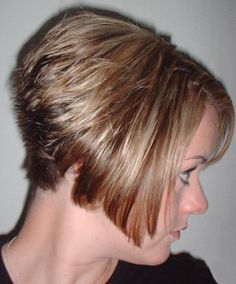 short stacked haircut back view - Google Search