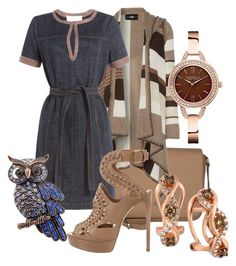 """""""Untitled #951"""" by rajtarov-natasa ❤ liked on Polyvore featuring Etienne Aigner, Line, See by Chloé, LE VIAN and Caravelle by Bulova"""