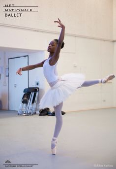 Michaela DePrince in rehearsal for the Nutcracker / Photo by Altin Kaftira