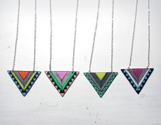 Geometric, Tribal Necklace - I need one of each! They match my phone cover!