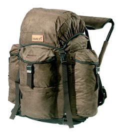 The Halti Paljakka is a functional backcountry pack with a built-in seat!  Warm seat. Several pockets. Lash point for ice auger.
