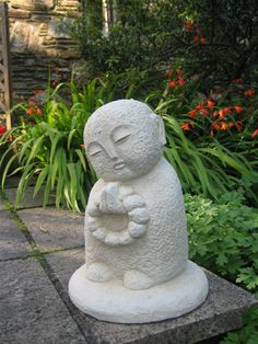 japanese buddha statue for the garden--if I'm not mistaken, this is the children's Buddha....