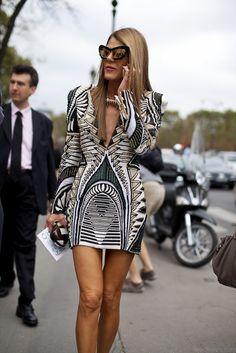 Anna Dello Russo on the streets of Paris #fashion #streetstyle