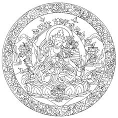 To print this free coloring page «coloring-adult-mandala-tibetain ...