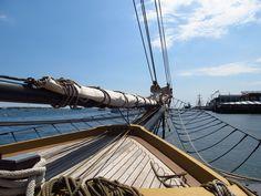 Bow of the Tall Ship Lynx in Boston Harbor