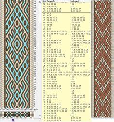 Swedish design  - 26 tarjetas, 3 colores, repite cada 48 movimientos // sed_320 diseñado en GTT༺❁