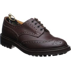 """Trickers Ilkley - unusual to see a bellows tongueon a shoe.  Storm welt and commando sole, """"Zug"""" leather.  Not a boot, but in the right company."""