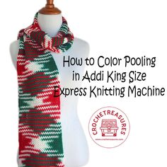 How to Color Pooling in Addi King Size Express Knitting Machine You will need a variegated yarn of any brand. Unravel few yards ...