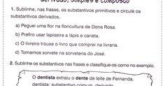 Atividades de português 5° ano do fundamental, com exercícios adaptados para alunos com dificuldade no aprendizado e para estudantes mais av...