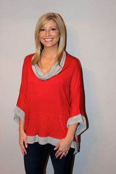 Crimson and Gray Tailgater Tunic Top