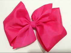 Moño Boutique rosa elegante con centro brillante VIDEO No. 335 - YouTube
