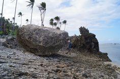 A large boulder overturned on an Eastern Samar beach during Super Typhoon Haiyan. <br />