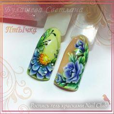 Роспись гель красками Nail Club. 256 оттенков в коллекциях! Приобрести можно здесь www.nailclub-shop.ru