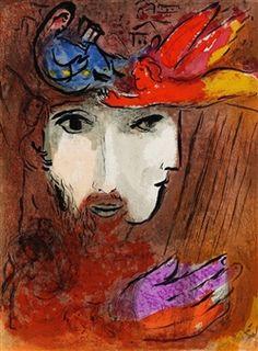 2 Bll.: Salomon. David und Bathseba By Marc Chagall ,1956