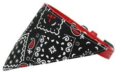 Black Western Bandana Pet Collar Red Size 16