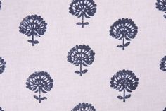 Yards Robert Allen Hand Flora Printed Cotton Drapery Fabric in Indigo. This printed fabric is perfect for window treatments, decorative pillows, handbags, light duty upholstery applications and almost. Drapery Fabric, Fabric Decor, Fabric Design, Curtains, Craftsman Remodel, Craftsman Trim, Farmhouse Fabric, Flora Print, Indian Flowers