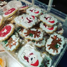 Here is just some of the cookies heading out the door this week.  Just 150 or so more until the holidays can begin!  #sweethandmadecookies #customcookies #decoratedcookies #designercookies #cookies #bradfordontariocookies #christmascookies