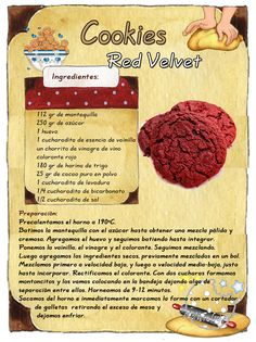Tartas, Galletas Decoradas y Cupcakes: Red Velvet Cookies Gooey Cookies, Cupcake Cookies, Chip Cookies, Cookie Recipes, Dessert Recipes, Red Velvet Cookies, Sandwiches, Muffins, Caramel