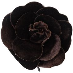 1980s Chanel Camellia Velveteen Brooch Pin | From a unique collection of vintage brooches at https://www.1stdibs.com/jewelry/brooches/brooches/