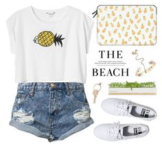 """Summer Vibes"" by alexandra-provenzano ❤ liked on Polyvore featuring One Teaspoon, Monki, Casetify, Valentino, H&M, Maison Margiela, Bambeco, Keds, women's clothing and women"