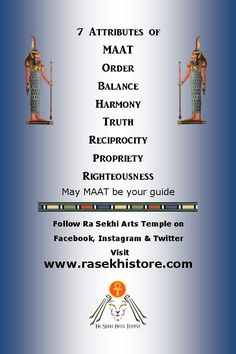 Raise your vibration and restore MAAT into your life