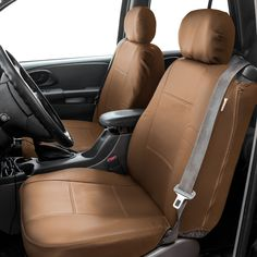 FH Group PU Leather Bucket Seat Covers with Side Zipper
