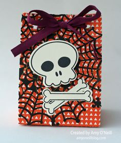 Skull Treat Bagt - Halloween - SU - Howl-o-ween stamp set (by Amy O'Neill)