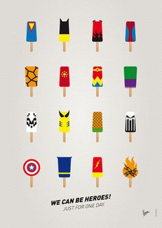 'My SUPERHERO ICE POP - UNIVERS' von chungkong bei artflakes.com als Poster oder Kunstdruck $20.79