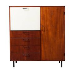 Cees Braakman CT61 Extended Bar Cabinet for Pastoe | From a unique collection of antique and modern cabinets at https://www.1stdibs.com/furniture/storage-case-pieces/cabinets/