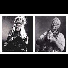 Chief Catherine Adams, portrait by David #Neel #Kwakiutl  David Neel Gallery  – Specializing in Northwest Coast Jewelry  Art, Native American Indian art, Canadian Aboriginal art, Jewelry, Masks,  Paintings.