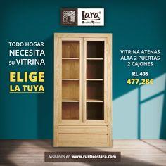 Elige la vitrina que más se adapte a tu hogar  #rusticoslara #mueblesrusticoslara #vitrinas #mueblesencrudo #mueblesdepino #mueblesdecalidad #mueblessinmontaje #mueblesonline #mueblesparapintar #mueblespinturaalatiza #hierroforjado #esparto Raw Furniture, Furniture Making, Natural Wood, Bookcase, Shelves, Ideas, Home Decor, Pine Furniture, Wood Furniture