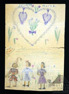 In the Terezin Ghetto, Zuzana Hojtasova gave this drawing to her mother for Mother's Day.