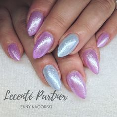 Pink and Blue Nails using Lecente™ Stardust and CND Shellac Neon Acrylic Nails, Video Pink, Cnd Shellac, Blue Nails, Photo And Video, Beauty, Constellation, Instagram, Queen
