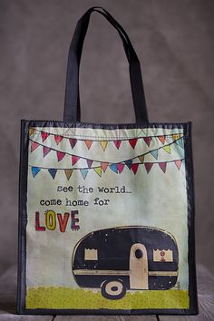 a398b3dccc0b Cute Shopping Tote by Natural Life Retro Campers