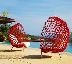 Dragnet Mesh Lounge Chair from Kenneth Cobonpue