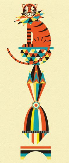 Circus Tiger  | Illustrator: Patrick Hruby - http://www.patrickdrawsthings.com