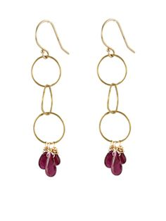 14k Gold and Ruby Earrings : Earrings : Handmade Jewelry by Peggy Li Creations A variation of that would be nice.
