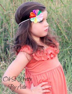 Daisy Scouts Headband  Rainbow Headband  by OhSoPrettyByAsia, $5.50